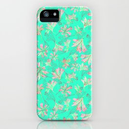 Floral lace Minty green iPhone Case