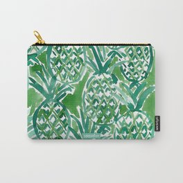 DEM PINEAPPLES Green Tropical Carry-All Pouch