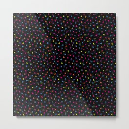 Black Rainbow V Pattern Metal Print