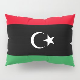 Official flag of the state of Libya, Authentic version to scale and color Pillow Sham