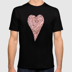 Heart, love, Valentine's Day Black Mens Fitted Tee SMALL