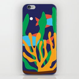 Fishes and seaweeds iPhone Skin