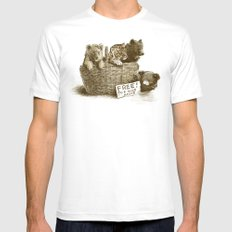 Lions and Tigers and Bears Mens Fitted Tee White LARGE