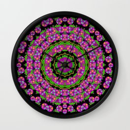 flowers and more floral dancing a power peace dance Wall Clock