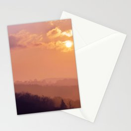 Sunset Over the Woods Stationery Cards