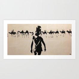 Broome Camels Art Print