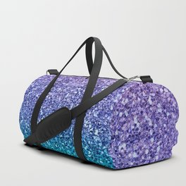Lavender Purple & Teal Glitter Duffle Bag