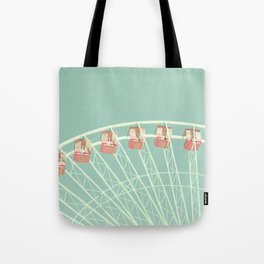 Mint and pink nursery ferris wheel Tote Bag