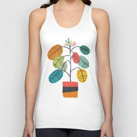 plant Tank Tops featuring Potted plant 2 by Picomodi