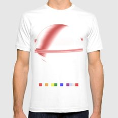 Song for Saturn White Mens Fitted Tee MEDIUM