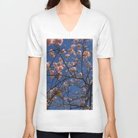 cherry blossoms V-neck T-shirts featuring cherry blossoms... by winnie patterson