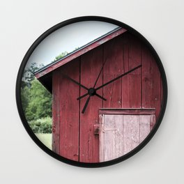 The Red Shed - Little Red Barn Wall Clock