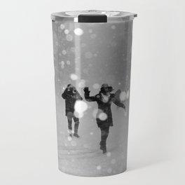 Snow in winter Travel Mug