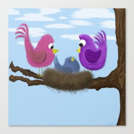 Our Tiny Bird Canvas Print