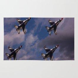 USAF Thunderbirds In Diamond Formation Rug