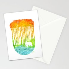 Bear by River Stationery Cards