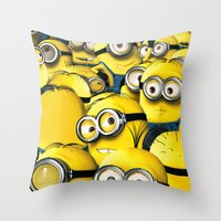 lannister Throw Pillows featuring DESPICABLE MINION by BeautyArtGalery