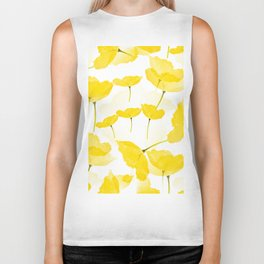 Light Yellow Poppies Spring Summer Mood #decor #society6 #buyart Biker Tank