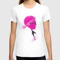 Drive White MEDIUM Womens Fitted Tee