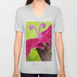 Antenna Flower Pink Unisex V-Neck