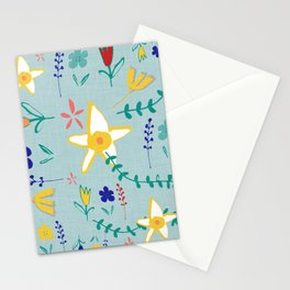 Floral The Tortoise and the Hare is one of Aesop Fables green Stationery Cards