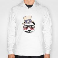 patriotic Hoodies featuring Patriotic Panda by crayzeestuff