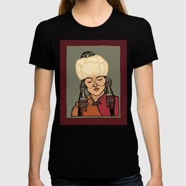 Turkic Woman in Traditional Hat T-shirt
