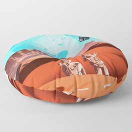 tardis space Floor Pillow