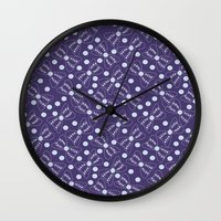 bow Wall Clocks featuring Bow by Sproot