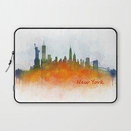New York City Skyline Hq V03 Laptop Sleeve