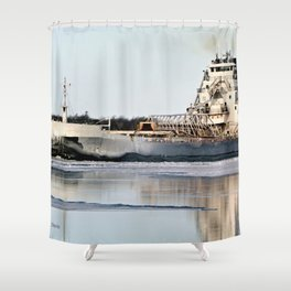 Great Republic Freighter Shower Curtain