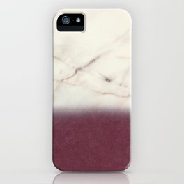 marble and purple iPhone Case