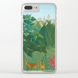 """Henri Rousseau """"The Waterfall"""", 1910 Clear iPhone Case"""