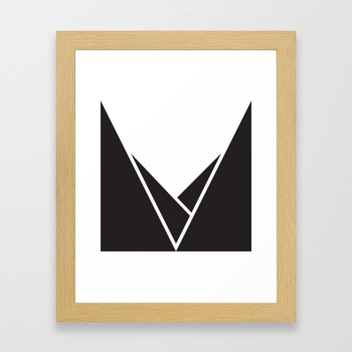 Mountainous Framed Art Print