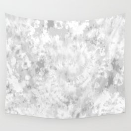 Gray Tie-Dye Wall Tapestry