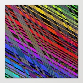 broken stripes Canvas Print