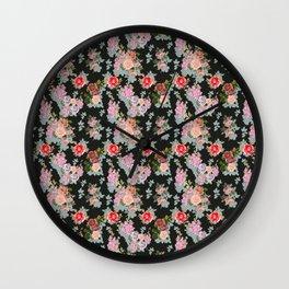 Medieval Roses Wall Clock