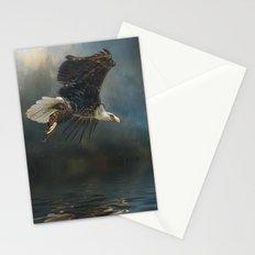 Bald Eagle Fishing Stationery Cards