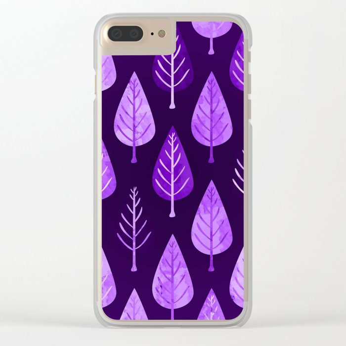 Leaf pattern II Clear iPhone Case
