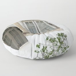 House with Closed Windows Floor Pillow