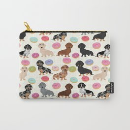 Dachshund weener dog donuts cutest doxie gifts for small dog owners Carry-All Pouch