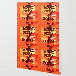 Music Pizza & Books Wallpaper