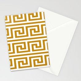Gold Greek Key Stationery Cards
