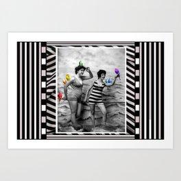 My Rainbow Budgerigars Art Print