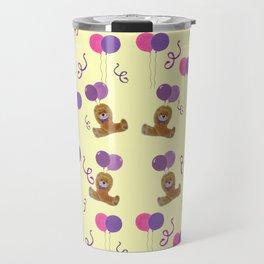 Teddy for girls with balloons Travel Mug