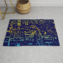 Chicago city lights at night Rug