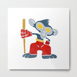 Warrior Monkey Metal Print