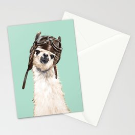 Cool Pilot Llama Stationery Cards