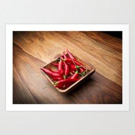 Red hot chilis Art Print