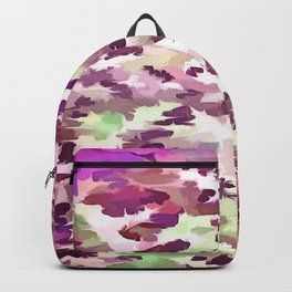 Foliage Abstract Pop Art In Ultra Violet and Fuchsia Pink Backpack